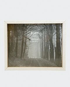Finn narrow photo frame- white