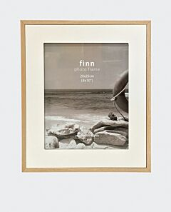 Finn wide photo frame- white