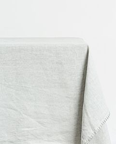 St Claire linen tablecloth - pearl grey