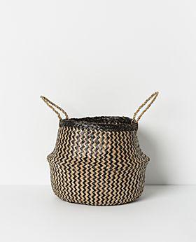 Amara seagrass basket natural/black - large