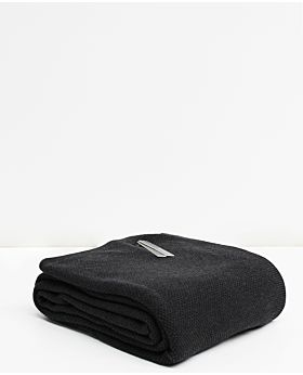 Bemboka Pure Cotton Moss Stitch King/Queen Blanket - Charcoal