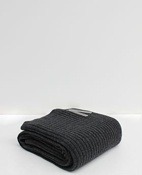 Bemboka Angora & Merino Wide Rib Throw - Charcoal