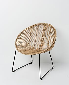 Parker round bucket chair- natural
