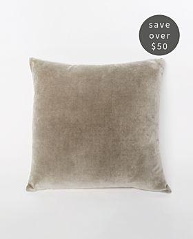 Gaia Velvet Linen Cushion Set of 2 - Taupe
