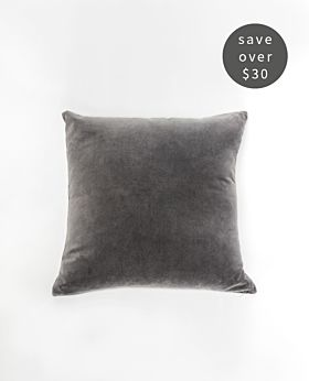Gaia Velvet Linen Cushion Set of 2 - Pewter