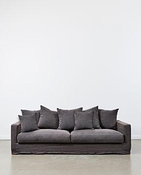 Amalfi 3.5 seater sofa - iron