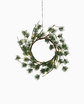Alpine LED wreath - green