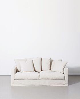 Amalfi 2.5 seater sofa - ivory