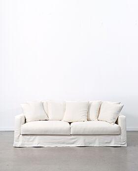 Amalfi 3 seater sofa - ivory