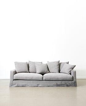 Amalfi 3.5 seater sofa - elephant