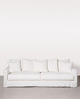 Amalfi 3.5 seater sofa - ivory