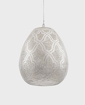 Arabesque Istanbul patterned oval pendant light - large