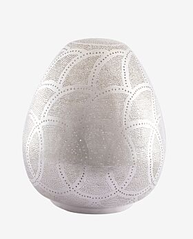 Arabesque Istanbul patterned oval table lamp