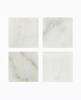 Arctic marble square coaster set-4