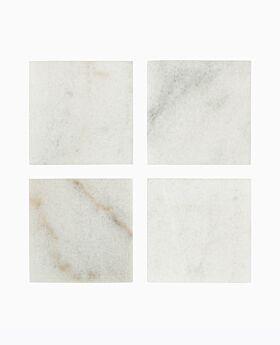 Arctic marble square coaster set-4