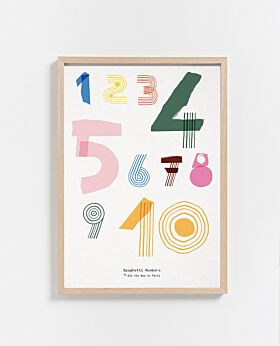 Paper Collective Spaghetti Numbers print