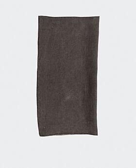 Bay linen napkin - dark grey