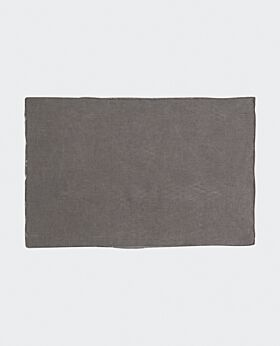 Bay linen placemat - dark grey