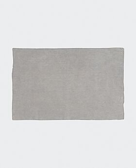 Bay linen placemat - light grey