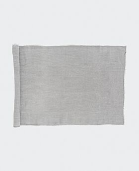 Bay linen table runner - light grey