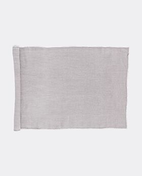Bay linen table runner - pebble grey