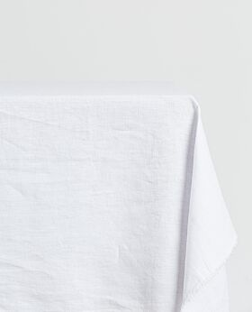 Bay linen tablecloth rectangle - crisp white