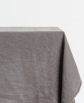 Bay linen tablecloth rectangle - dark grey