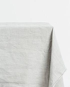 Bay linen tablecloth rectangle - light grey