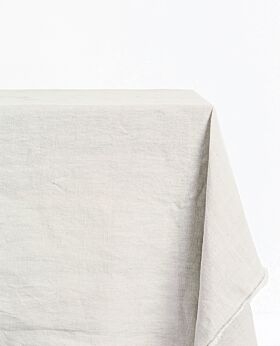 Bay linen tablecloth rectangle - pebble grey