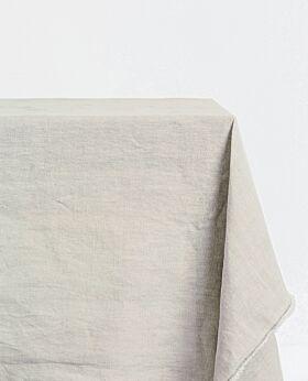 Bay linen tablecloth rectangle - pebble grey