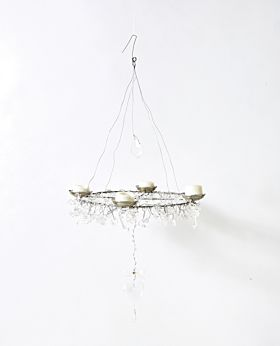 Bedouin hanging beaded candle holder