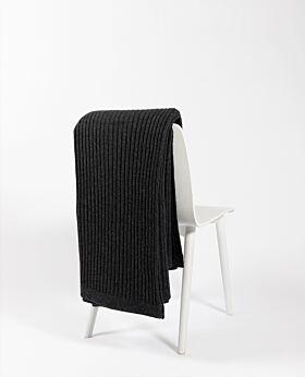Bemboka Angora & Merino Wide Rib King/Queen Blanket - Charcoal