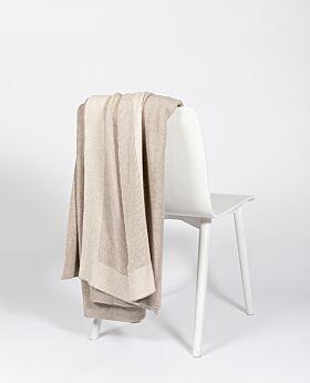 Bemboka Pure Cotton Reversible Rib King/Queen Blanket - Wheat/Sand