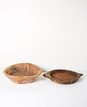 Bhadra vintage carved timber bowl