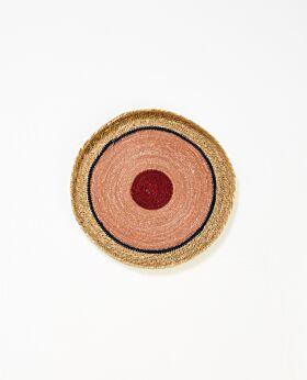 Cali woven tray - blush - large