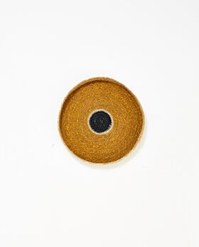 Cali woven tray - mustard - small
