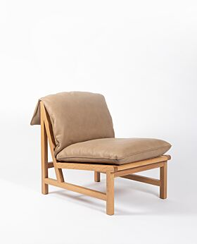 Cantaloupe occasional chair - tan leather