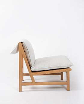 Cantaloupe occasional chair - ghost gum