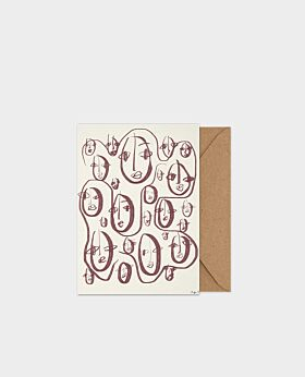 Paper Collective Random Faces - A5 card