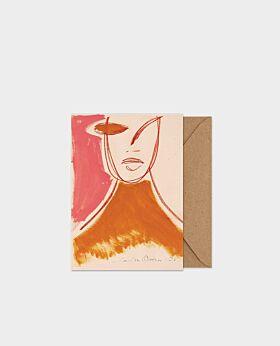 Paper Collective Pink Portrait - A5 card