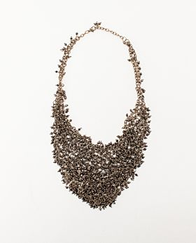 Mirielle mesh necklace - gold & black