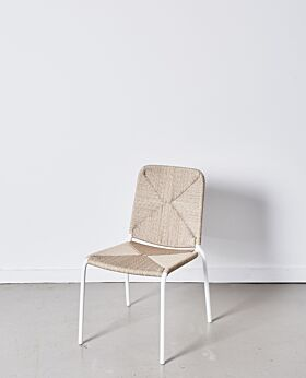 Chester dining chair - white shell with white frame