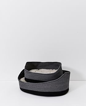 Chino dog basket - charcoal
