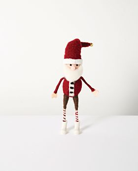 Christabel standing felt santa with black buttons
