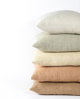 Christophe linen cushion - bone