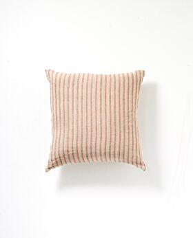Christophe linen cushion - blush stripe