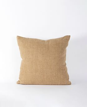 Christophe linen cushion - caramel