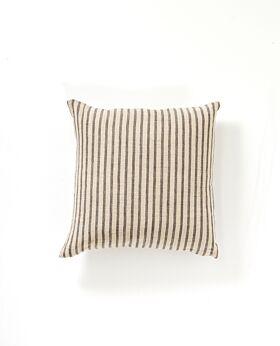Christophe linen cushion - charcoal stripe