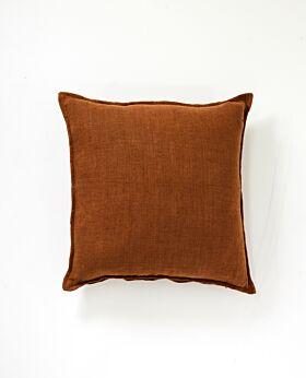 Christophe linen cushion - cinnamon