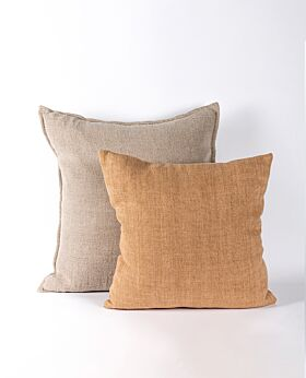 Christophe linen cushion - ochre